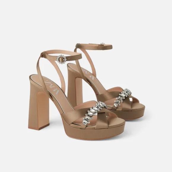 Zara Platform sandals sz eu 39 is 8
